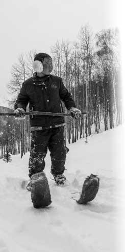 Batwalzo, a traditional Altai Skier